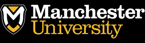 Manchester university logo rgb with white outline black box